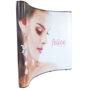 Wave 8 Ft. Pop Up Display Trade Show Exhibit Booth (PVC)