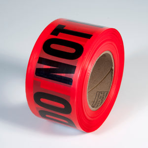 "RADNOR® 3"" X 1000' Red 1.5 mil Polyethylene Primeguard Barricade Tape ""DANGER DO NOT ENTER"""