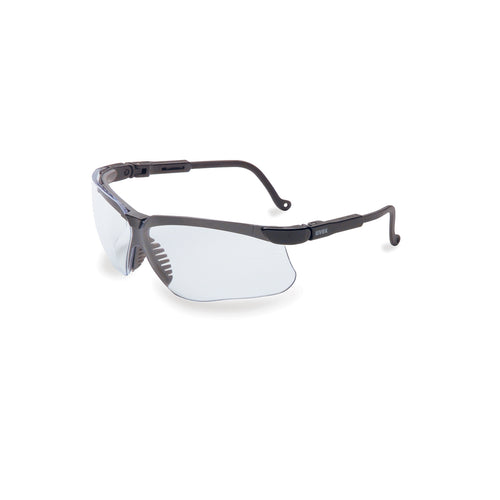Honeywell Uvex Genesis® Black Safety Glasses With Clear Anti-Fog/Anti-Scratch Lens