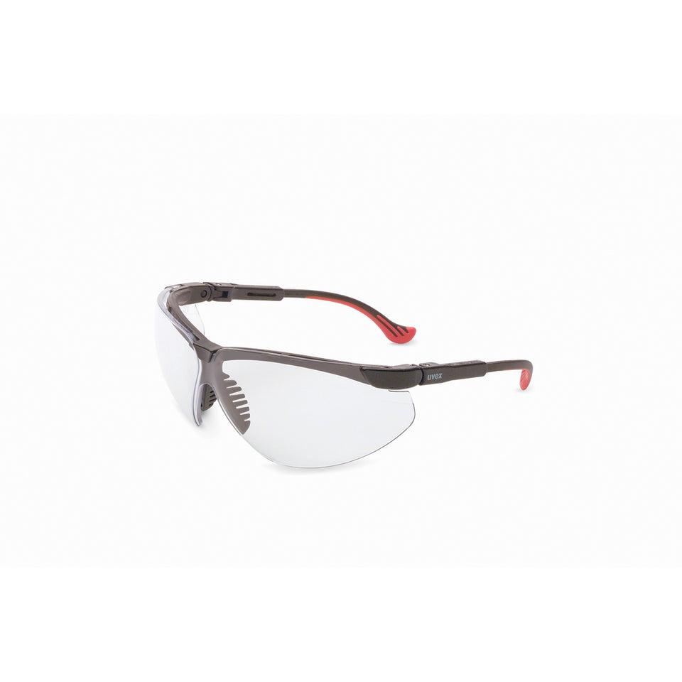 Honeywell Uvex Genesis XC® Black Safety Glasses With Clear HydroShield™ Anti-Fog/Anti-Scratch Lens