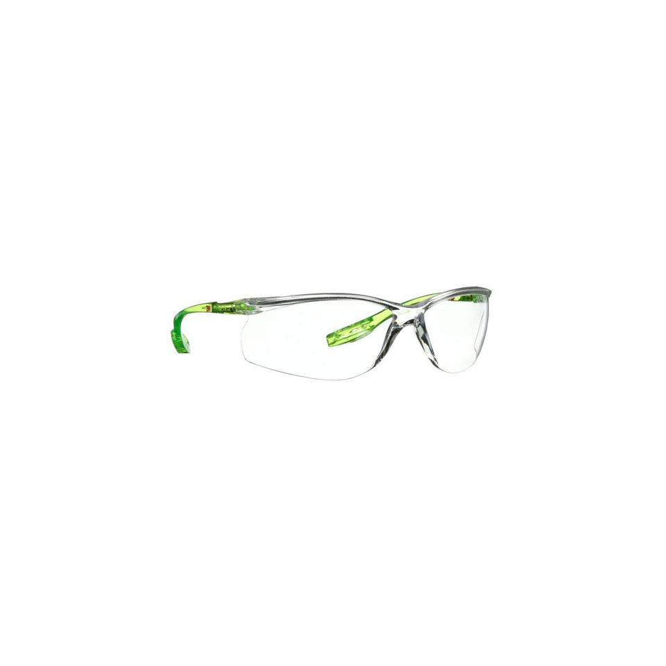 3M™ Solus™ CCS Series Clear And Bright Green Safety Glasses With Clear Scotchgard™ Anti-Fog/Anti-Scratch Lens