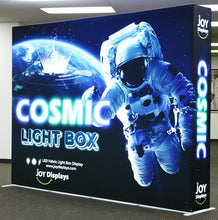 Load image into Gallery viewer, BACKLIT - 10ft. x 7.5ft SEG Pop Up Cosmic Lightbox Display