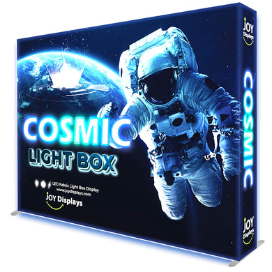 BACKLIT - 10ft. x 7.5ft SEG Fabric Pop Up Cosmic Lightbox Display - Double-Sided