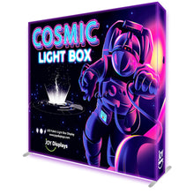 Load image into Gallery viewer, BACKLIT - 8ft. x 7.5ft Cosmic SEG Pop Up Lightbox Display