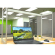 "Load image into Gallery viewer, Desk Sneeze Guard - 48"" W X 24"" H with 12"" Side Panel - Aluminum Frame and Acrylic Desk Shield"