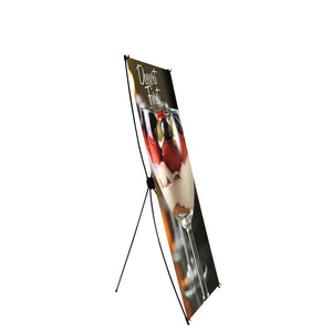 Econom-X Banner Stand Small 24 In.W X 62 In.H Scrim Graphic Package (Stand & Graphic)