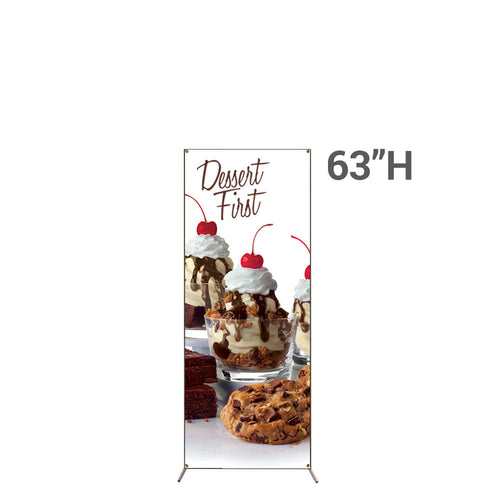 Grasshopper Adjustable Banner Stand Small With 18 In. X 63 In. Graphic Package