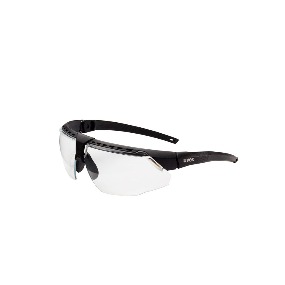 Honeywell Uvex Avatar™ Black Safety Glasses With Clear Anti-Fog Lens