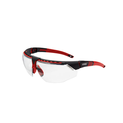 Honeywell Uvex Avatar™ Red Safety Glasses With Clear Anti-Fog Lens