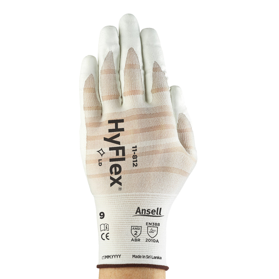 Ansell HyFlex® Foam Nitrile Work Gloves With Ultrathin Nylon And Spandex Liner And Knit Wrist