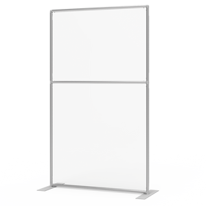 Plexiglass Acrylic Shield With Aluminum Frame - Freestanding Sneeze Guard Divider