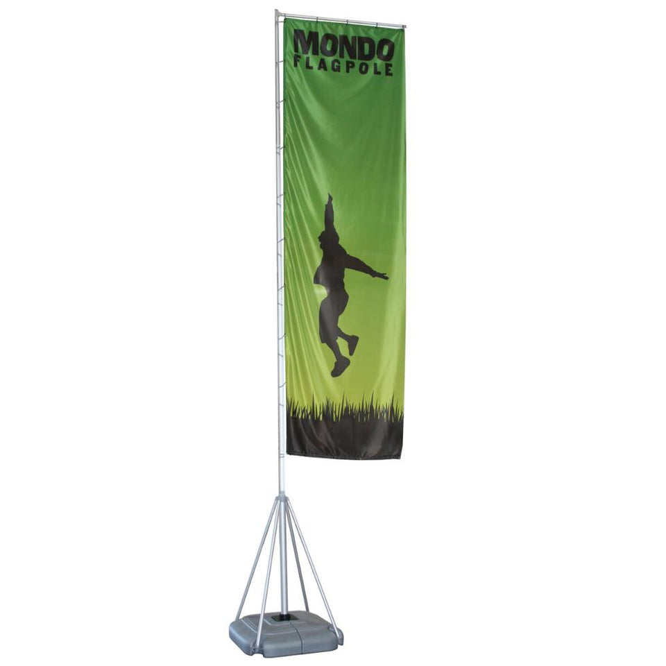 17' Mondo Flagpole Outdoor Flag Graphic Package