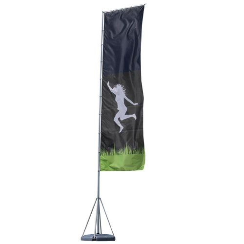 23' Mondo Flagpole Outdoor Flag Graphic Package