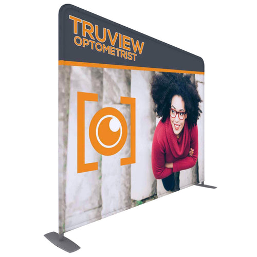10 Ft. ONE CHOICE Fabric Display -  Straight Aluminum Tube Trade Show Exhibit Booth