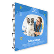 "Load image into Gallery viewer, 8 Ft. Fabric Pop Up Display - 89""H ONE CHOICE Straight Trade Show Exhibit Booth"