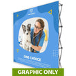 "Load image into Gallery viewer, GRAPHIC ONLY - 8 Ft. Fabric Pop Up Display - 89""H ONE CHOICE Straight Replacement Graphic"