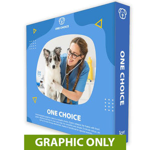 "GRAPHIC ONLY - 8 Ft. Fabric Pop Up Display - 89""H ONE CHOICE Straight Replacement Graphic"