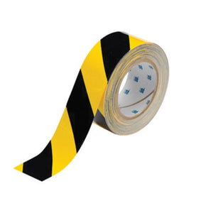 "Brady® 2"" X 100' Black/Yellow 2 mil Polyester ToughStripe® Marking Tape"
