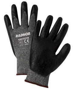 RADNOR® 15 Gauge Nitrile Palm And Finger Coated Work Gloves With Nylon Liner And Knit Wrist