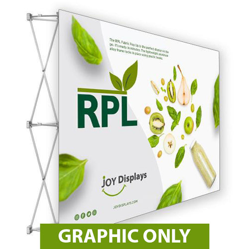 GRAPHIC ONLY - 7.5 Ft. RPL Fabric Pop Up Display - 5'H Straight Replacement Graphic