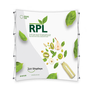 "8 Ft. RPL Fabric Pop Up Display - 89""H Curve Trade Show Exhibit Booth"