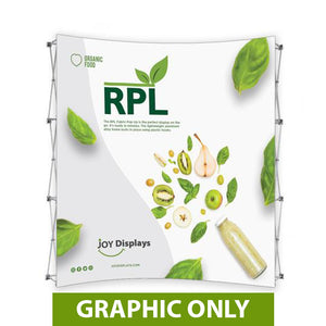 "GRAPHIC ONLY - 8 Ft. RPL Fabric Pop Up Display - 89""H Curve Replacement Graphic"