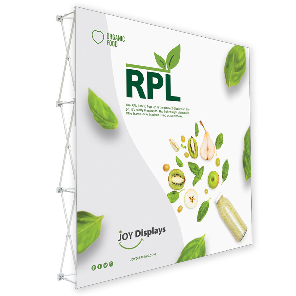 8ft. RPL Fabric Pop Up Display - 89