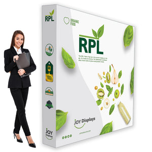 "8ft. RPL Fabric Pop Up Display - 89""H Straight Trade Show Exhibit Booth"