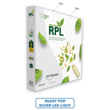"Load image into Gallery viewer, 8ft. RPL Fabric Pop Up Display - 89""H Straight Trade Show Exhibit Booth"