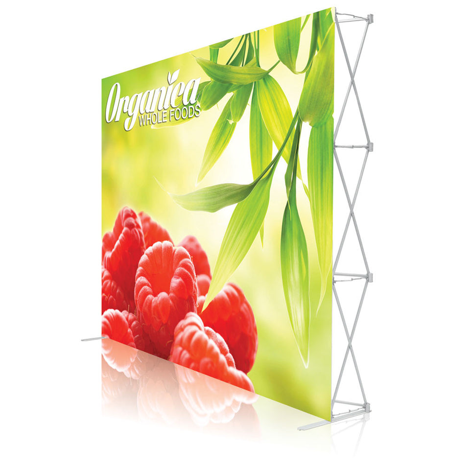 10 Ft. Ready Pop Fabric Display - 8'H Large Straight Trade Show Exhibit Booth