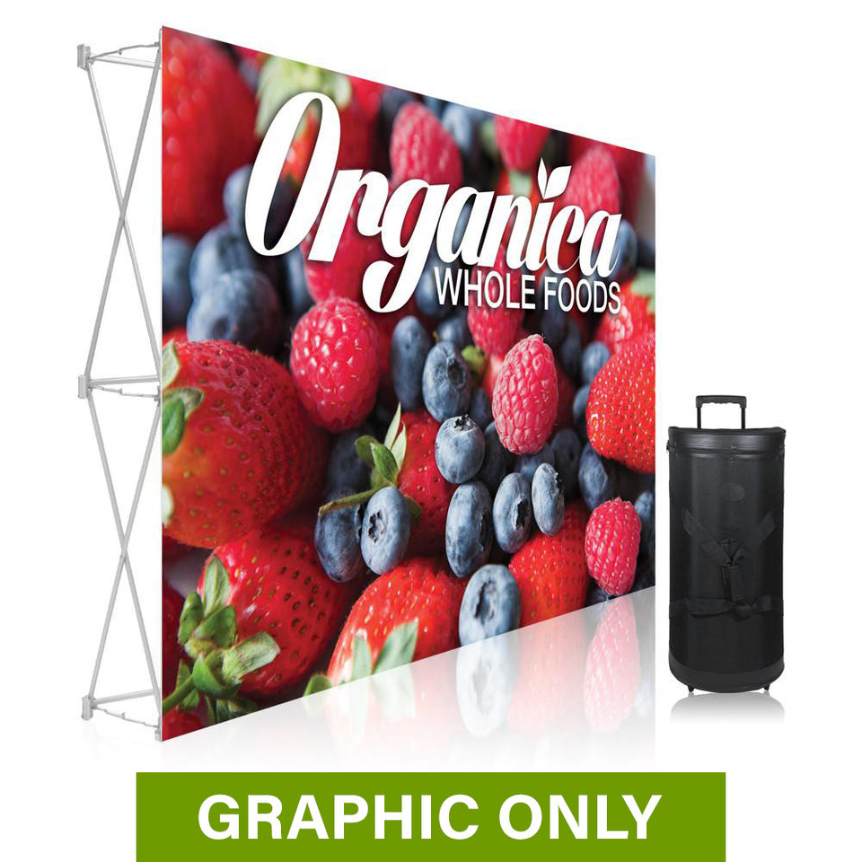 GRAPHIC ONLY - 7 Ft. Ready Pop Fabric Display - 5'H Straight Replacement Graphic