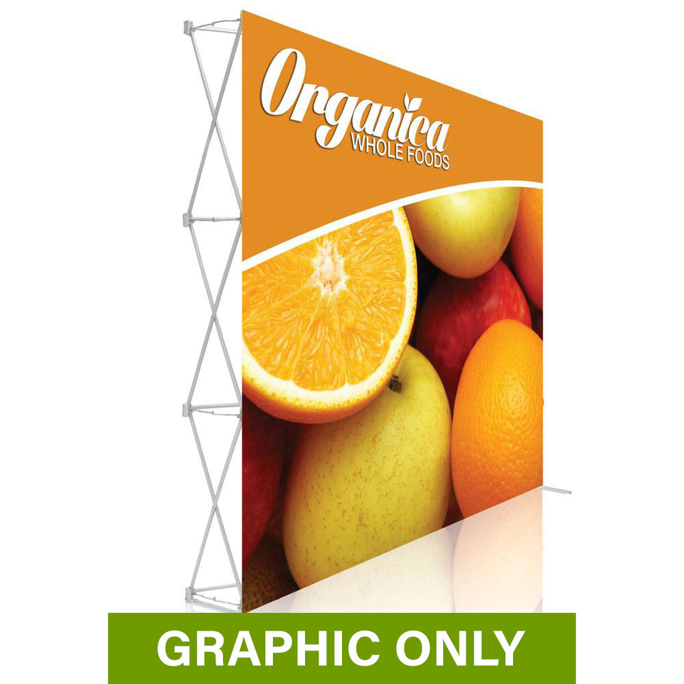 GRAPHIC ONLY - 8 Ft. Ready Pop Fabric Display - 8'H Medium Straight Replacement Graphic