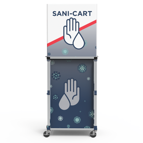 Small Popup Sanitizing Cart