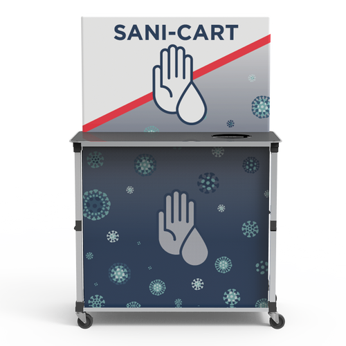 Large Popup Sanitizing Cart