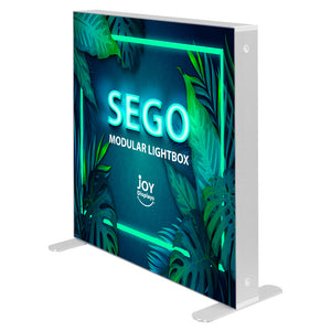 BACKLIT - 3.3 x 3.3ft. SEGO Modular Double-Sided Lightbox Display