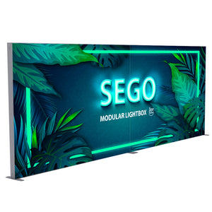 BACKLIT - 20ft x 7.4ft SEGO Modular Double-Sided Lightbox Display Configuration A