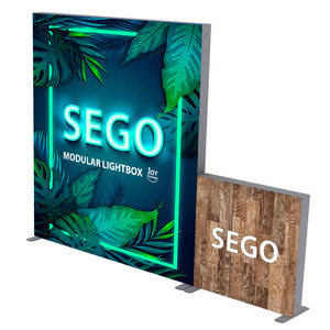 BACKLIT - 10ft x 7.4ft SEGO Modular Double-Sided Lightbox Display Configuration D