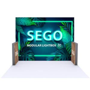 BACKLIT - 10ft x 7.4ft SEGO Modular Double-Sided Lightbox Display Configuration E