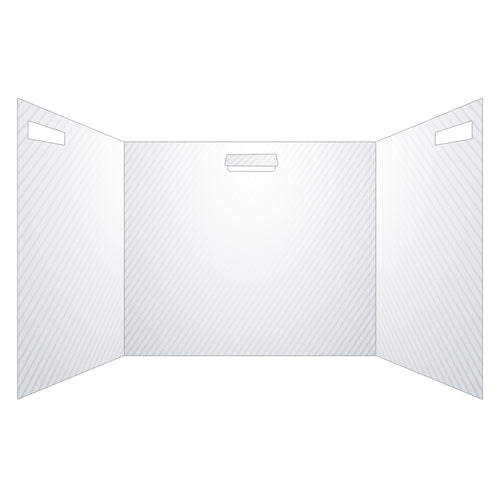 "Semi-Transparent Trifold Sneeze Guard - 22"" W X 18"" H Portable Desk Shield With 13.5"