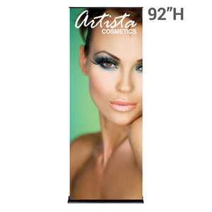 36 In. SilverStep Retractable Banner Super Flat Vinyl Graphic Package