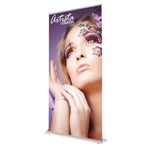 48 In. SilverStep Retractable Banner Super Flat Vinyl Graphic Package