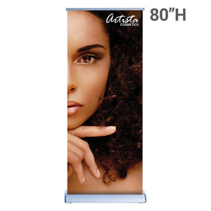 33.5 In. Silverwing Retractable Banner Double-Sided - Super Flat Vinyl Graphic Package