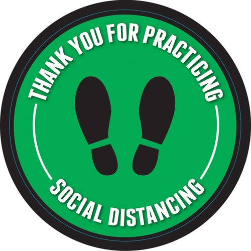 Floor Decal - 6' Apart Social Distancing - 12