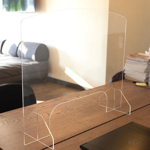 "Desk Sneeze Guard - 30"" W X 23"" H Plexiglass With Bottom Opening - 1/8"" Acrylic"