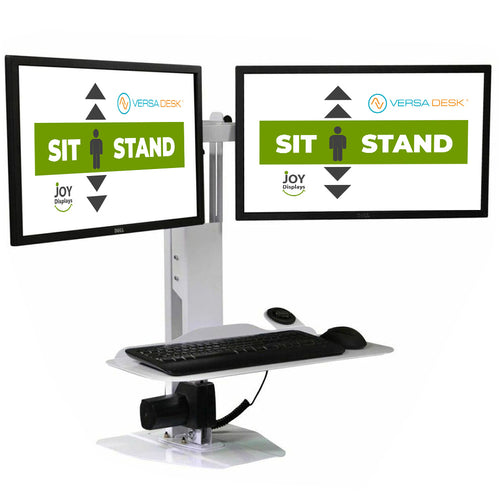 Sit-To-Stand Computer Station  - Dual Monitor and keyboard Lift