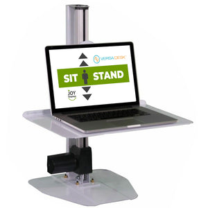 "Height Adjustable Laptop/Monitor Riser - 20"" X 13"" Sit-To-Stand Desktop Riser"