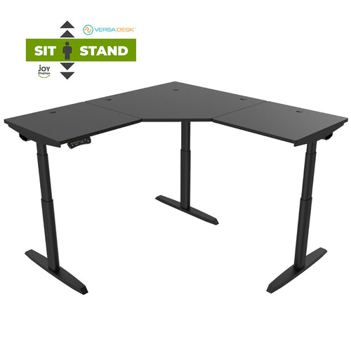 Sit-To-Stand Corner Desk - PowerLift Height Adjustable Standing Desk