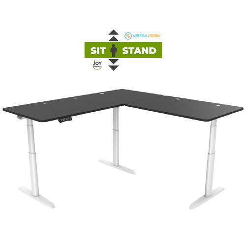 Sit-To-Stand L-Shaped Desk -PowerLift® Height Adjustable Standing Desk