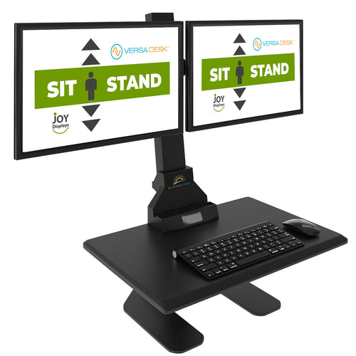 Height Adjustable Monitor and keyboard Stand - Dual Screen Desktop Riser