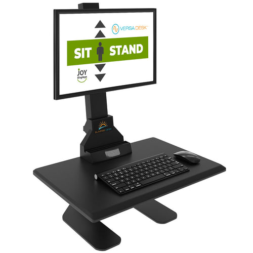 Sit-To-Stand Monitor and keyboard Stand - Single Screen Desktop Riser